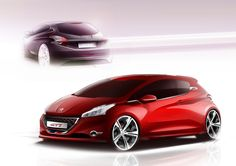 Peugeot Concept Car 208 XY & GTi Sketch