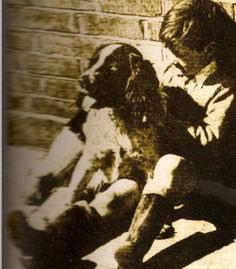 pete and his dog bruce, this was put on a magazine cover when pete was little
