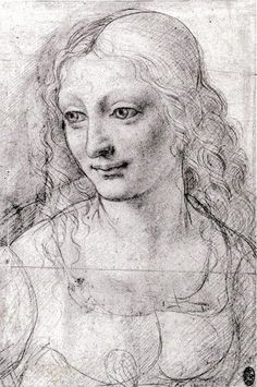 Study for a Portrait of a Woman by Giovanni Antonio Boltraffio (Italian High Renaissance painter, Modern History, European History, Art Sketches, Art Drawings, Milan, Gothic Men, High Renaissance, Paper Drawing, Italian Painters