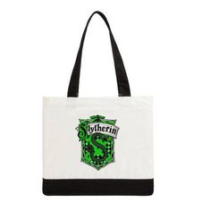 Slytherin inspired tote bag
