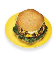 Fiber filled vegie burger