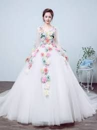 Image result for wedding dresses with color