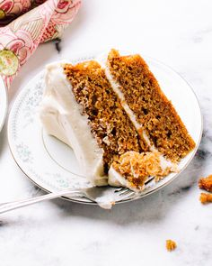 This delicious, old fashioned carrot cake is so moist and so simple to make! Layered with a light and fluffy cream cheese frosting, it truly is the ultimate carrot cake. Homemade Carrot Cake, Moist Carrot Cakes, Moist Cakes, Fluffy Cream Cheese Frosting, Cake Recipes, Dessert Recipes, Lime Cake, Pistachio Cake, Cinnamon Cake