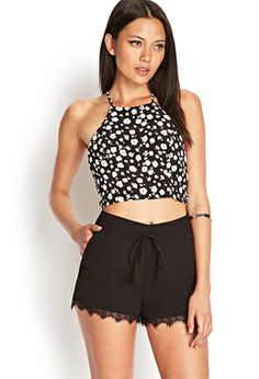 Ornate Lace Woven Shorts   FOREVER21 - 2000122923