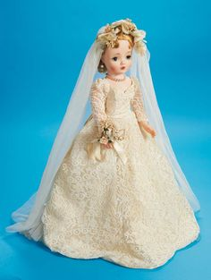 View Catalog Item - Theriaults Antique Doll Auctions. Cissy bride by Madame Alexander