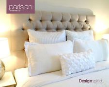 PARISIAN Upholstered Bedhead for King Ensemble - ALMOND