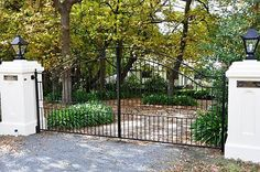 Formal wrought iron driveway gates, Stirling, Adelaide Hills, SA