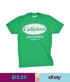 05a372ab156 T-Shirts Men s Callahan Auto Parts T Shirt Funny Logo Novelty Vintage Movie  Tee For