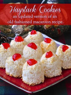 old fashioned christmas cookies Weihnachtspltzchen An updated quicker and easier version of this old fashioned haystack cookies recipe, using sweetened condensed milk to prepare this simple type of macaroon. Holiday Baking, Christmas Baking, Cookie Recipes, Dessert Recipes, Candy Recipes, Recipes Dinner, Dessert Ideas, Free Recipes, Haystack Cookies