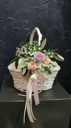 Wedding Party: Flower Girl Floral Basket Flower Girls, Big Day, Floral Wreath, Basket, Wreaths, Party, Flowers, Wedding, Valentines Day Weddings