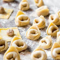 Tortellini in cremiger Schinken-Sahne-Sauce