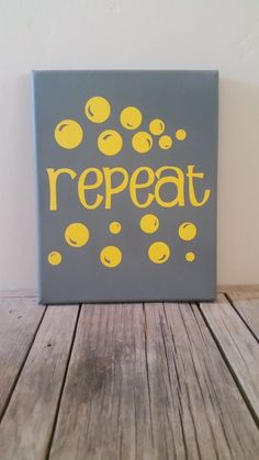 Repeat Bathroom Canvas by aspoonfulofawesome on Etsy