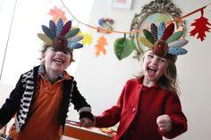 A couple of turkeys!! (Thanksgiving kid table idea) <3