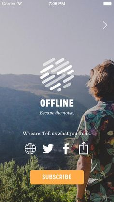 social icons on Offline Magazine