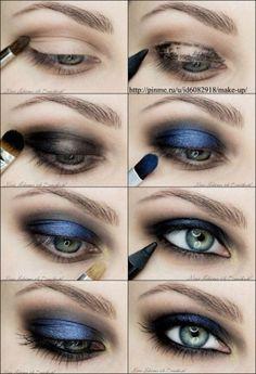 Electric Blue Eye Make up