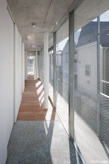 a f a s i a: Mitsuhiko Sato House Cladding, Wood Facade, Design Studio Office, Expanded Metal, House Extensions, Facade Design, Facade Architecture, Interior Exterior, Windows And Doors
