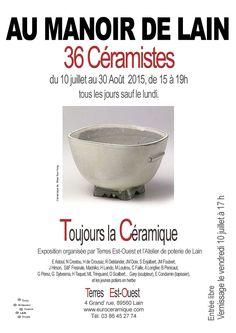 EXPOSITION DE CERAMIQUE - 2015 AU MANOIR DE LAIN