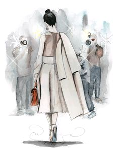 fashion illustration paparazzi, tracy hetzel
