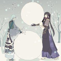 【刀剣乱舞】仲良く雪だるまを作る江雪さんと次郎さん【とある審神者】 : とうらぶ速報~刀剣乱舞まとめブログ~