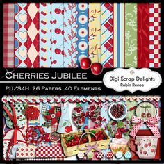 Cherries Jubilee Digital Scrapbook Kit