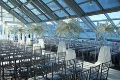 Adler Planetarium wedding ceremony inside Galileo's cafe
