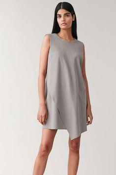 SLEEVELESS COTTON WRAP DRESS - grey - Dresses - COS DE