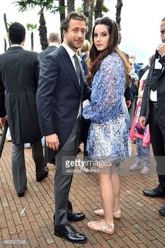 Francesco Carrozzini and Lana Del Rey are seen on August 1, 2015 in STRESA, Italy.