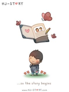 Love Facts : Picture Description Check out the comic HJ-Story :: Love is like a magical story Hj Story, Love Cartoon Couple, Love Couple, Chibi Couple, Couple Things, Cute Love Stories, Love Story, Love Is Sweet, What Is Love