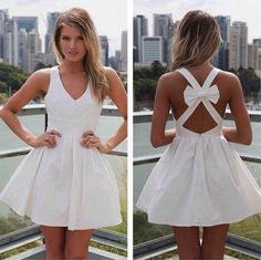 Beautiful girl,you need a dress like this to wear it to your party.V-neck and backless can make you look sexier,whatever wear it at daily time or have a date with your friends, which do add a uniquely
