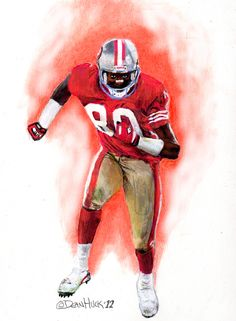 Jerry Rice - San Francisco 49ers Drawing by Dean Huck | Flickr