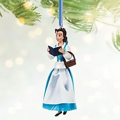 Belle Variant Sketchbook Ornament - Limited Release | Disney Store Radiant in her blue village dress, our very special variant Belle ornament tells a tale old as time to all that passes. Treat your holiday tree to this classic Disney dreamer from <i>Beauty and the Beast</i>.