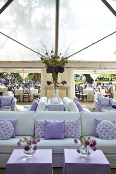#purple #lavender #wedding #lounge #cocktail #hour