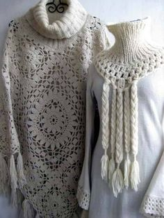 Poncho Crochet Estimadas ami |