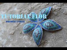 Como hacer una flor de macramé grande/ Collar parte 1 - YouTube