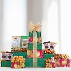 Snack Gift Baskets - All Occasion Gift Tower Assorted Nuts, Employee Appreciation Gifts, Feeling Under The Weather, Cocoa Cookies, Get Well Soon Gifts, Sympathy Gifts, Chocolate Truffles, Gift Baskets, Tower