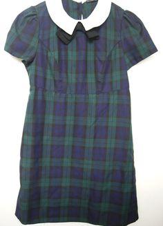 Kup mój przedmiot na #vintedpl http://www.vinted.pl/damska-odziez/krotkie-sukienki/13539421-pensjonarka-atmosphere-dziewczeca-kolnierzyk-uczennica-krata-tartan