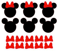 20 Mickey Mouse & 10 Minnie Mouse Vinyl Decals by TheFunkyPolkaDot Mickey Mouse Clubhouse, Mickey Mouse Cake, Minnie Mouse Party, Mouse Parties, Decoration Minnie, Minnie Mouse Birthday Decorations, Mickey Mouse Birthday, Mickey E Minie, Mickey Party