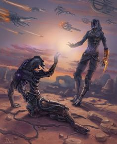 """""""Does this unit have a soul?"""" --- """"The answer to your question... It was 'yes'."""" """"I know Tali..."""""""
