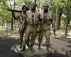 The Three Servicemen statue, at the Vietnam Veterans Memorial in Washington,