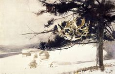 Andrew Wyeth, Rack At Kuerners, 1983 acquerello su carta di stracci, cm 64,7 x 100,9 Mr. and Mrs. Frank E. Fowler © Andrew Wyeth