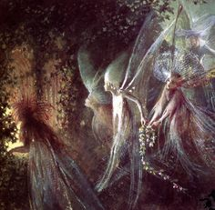 "Faeries Looking Through a Gothic Arch"" ("