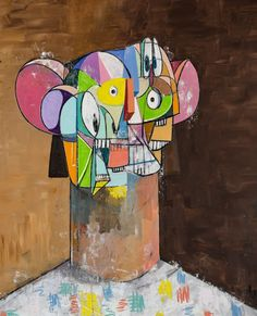 "Nazem Art on Instagram: ""#georgecondo #art #artist #artwork #visual #cubism #contemporary #contemporaryart"""