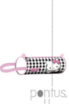 Estojo Charmmy Kitty cilíndrico vichy ref.75076 | JB