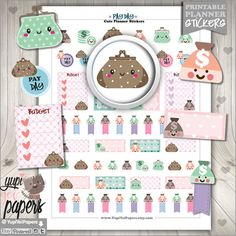 Payday Stickers, Planner Stickers, Pay day Stickers, Money Stickers, Budget Stickers, Kawaii Stickers, Planner Accessories, Erin Condren