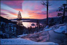 Dawn over Eagle Falls at Emerald Bay, Lake Tahoe