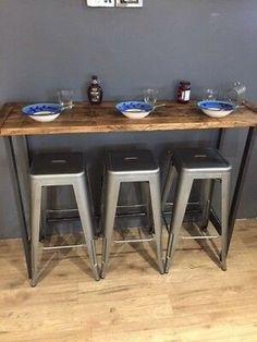 Small Breakfast Bar, Breakfast Bar Table, Breakfast Nook, Small Bar Table, Table Bar, Wooden Bar Table, Pool Table, Dining Tables, Ikea Bar