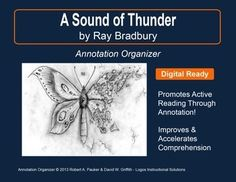 """➡ UPDATED WITH NEW ADDED FEATURES ⚡  """"A Sound of Thunder"""" by Ray Bradbury is part of our Short Story Annotation Series designed to improve annotation skills, bolster reading comprehension, and cultivate literary appreciation."""
