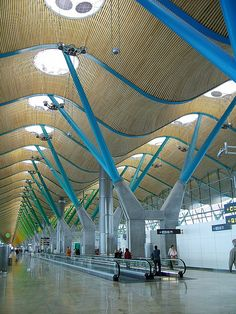 Madrid's Barajas Airport, Terminal 4 - I've been here and it's amazing.