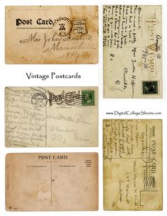 Antique Postcards (JPG)