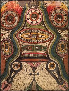 Pencils and Colored Pencil drawing by Adolf Wolfli